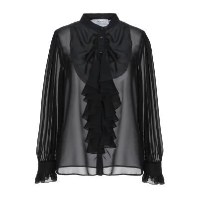 ブルーガール ブルマリン BLUGIRL BLUMARINE シャツ ブラック 44 ポリエステル 100% シャツ