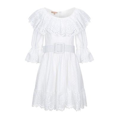 マイケル・コースコレクション MICHAEL KORS COLLECTION ミニワンピース&ドレス ホワイト 2 コットン 100% ミニワンピー