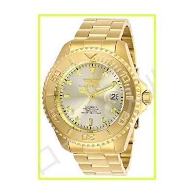 Invicta Men's Pro Diver Gold-Tone Steel Bracelet & Case Automatic Champagne Dial Analog Watch 28950 並行輸入品