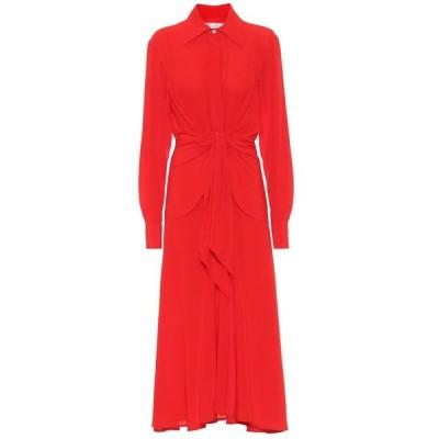ヴィクトリア ベッカム Victoria Beckham レディース ワンピース シャツワンピース ワンピース・ドレス Silk shirtdress Red Candy