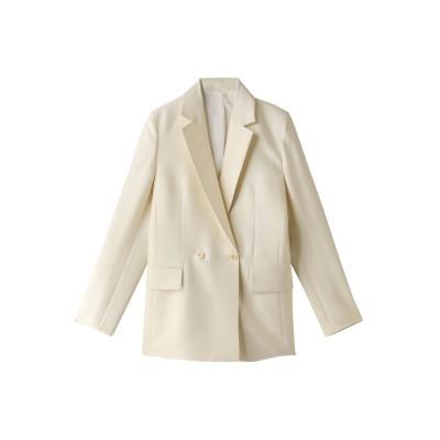 ANAYI アナイ ウールシルクテーラードジャケット レディース オフホワイト 36