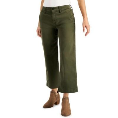 ラッキーブランド デニムパンツ ボトムス レディース Cropped Wide-Leg Jeans Olive Night