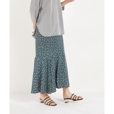 スカート フラワーヘムスカート