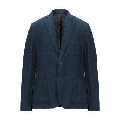 120% テーラードジャケット ダークブルー 4XL 100% 麻 テーラードジャケット