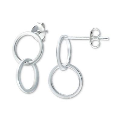 ジャニ ベルニーニ ピアス&イヤリング アクセサリー レディース Double Circle Drop Earrings in Sterling Silver, Created for Macy's Sterling Silver