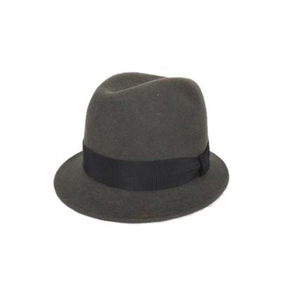 【中古】カシラ CA4LA 中折れ ハット 帽子 メルトン リボン チャコールブラウン/6$12 メンズ レディース 【ベクトル 古着】