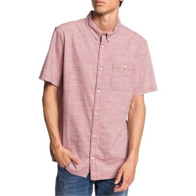 クイックシルバー メンズ シャツ トップス Quiksilver Firefall Short-Sleeve Regular Shirt Red Wood