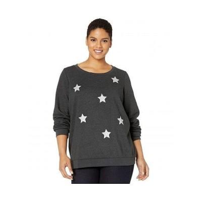 JUNAROSE レディース 女性用 ファッション パーカー スウェット Plus Size Donna Sweatshirt - Dark Grey
