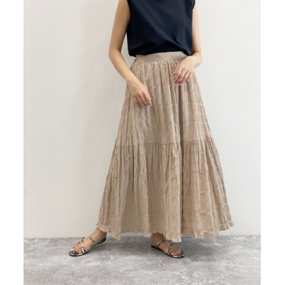LAKOLE / シャーリングティアードスカート / LAKOLE WOMEN スカート > スカート