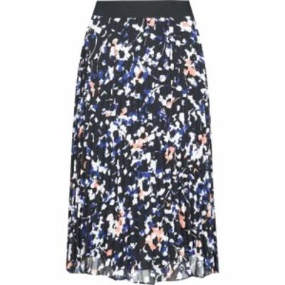 ダナ キャラン ニューヨーク DKNY レディース スカート prnt pleat skrt Black Multi