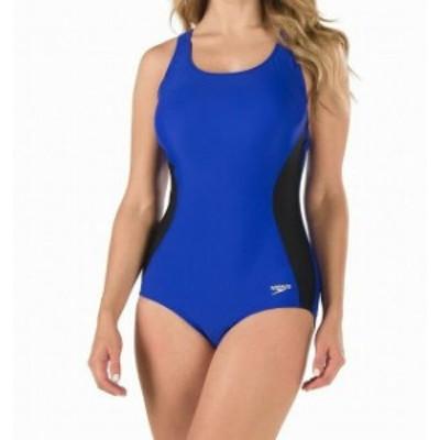 speedo スピード スポーツ用品 スイミング Speedo NEW Royal Blue Womens Size 14 Colorblock One-Piece Swimsuit