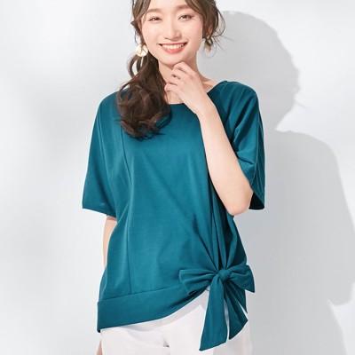 ヴィオラ エ ヴィオラ Viola e Viola 【5つの機能付】裾リボンデザインゆるTシャツ (ブルーグリーン)