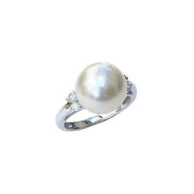 パール 指輪 真珠 リング 真珠 指輪 リング 南洋真珠パール pt900プラチナリング ダイヤモンド アクセサリー 記念日 フォーマル プレゼント ギフト 人気
