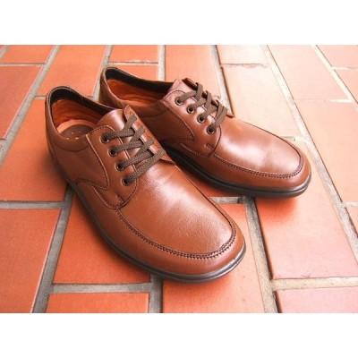 ARUKURUN/アルクラン 紳士靴 レースアップ Uチップ 1102 ブラウン 送料無料
