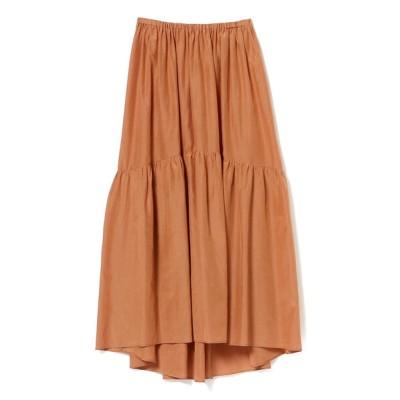 BEAMS WOMEN / Demi-Luxe BEAMS / コットンシルク ギャザーロングスカート WOMEN スカート > スカート
