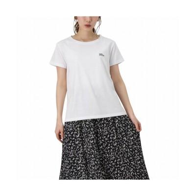 (MAC HOUSE(women)/マックハウス レディース)T-GRAPHICS ティーグラフィックス 胸刺繍Tシャツ EJ213-WC202/レディース ホワイト