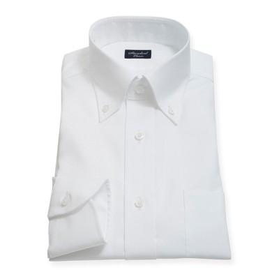[シャツ]スタンダード ドレスシャツ(ボタンダウン) ZYD352-100 ホワイトピンオックス 37-84