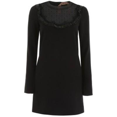 N.21/ヌメロ ヴェントゥーノ ドレス BLACK N.21 crepe mini dress レディース H041 5395 ik
