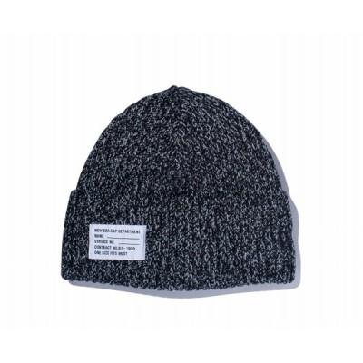 ニューエラ NEW ERA ミリタリーニット パッチ ヘザー ブラック/グレー ニットキャップ 帽子 日本正規品
