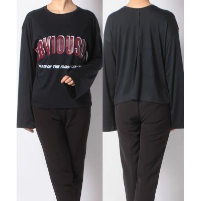 【ベーセーストック】 TR スムースロゴナガTシャツ レディース ネイビー フリー B.C STOCK