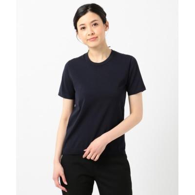 (ICB(LARGE SIZE)/アイシービー エルサイズ)HiTwist Cotton 半袖ニット/レディース ネイビー系