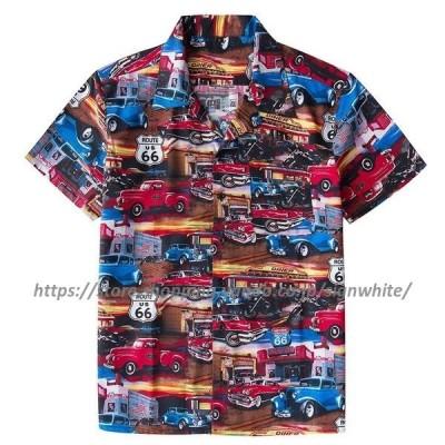 アロハシャツ   ャツ メンズ 半袖 夏 カジュアルシャツ シャツ 夏服 メンズシャツ カジュアル ンシャツ