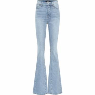 アミリ Amiri レディース ジーンズ・デニム ボトムス・パンツ High-rise flared jeans Stone Indigo