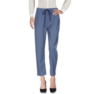 セミクチュール SEMICOUTURE パンツ ブルー 42 ポリエステル 54% / バージンウール 44% / ポリウレタン 2% パンツ