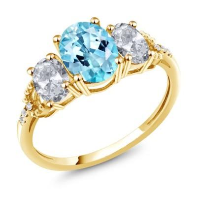 天然 アパタイト 指輪 レディース リング 10金 イエローゴールド 天然石 ブランド