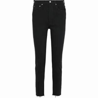 リーバイス ジーンズ・デニム High-rise slim-leg jeans Black