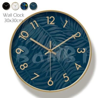 時計 壁掛け 掛け時計 オシャレ 北欧 おしゃれ シンプル 静音 金属 フック付き