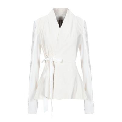リック オウエンス RICK OWENS ライトコート ホワイト 40 羊革(ラムスキン) 100% / キュプラ / バージンウール ライトコート