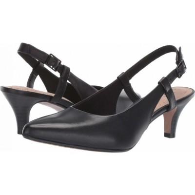 クラークス Clarks レディース パンプス シューズ・靴 Linvale Loop Black Leather