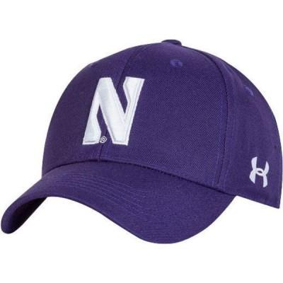 アンダーアーマー Under Armour メンズ キャップ 帽子 Northwestern Wildcats Purple Adjustable Hat
