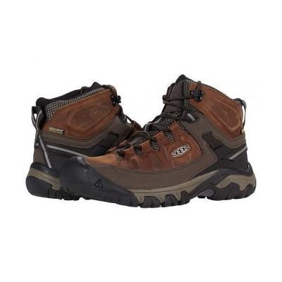 Keen キーン メンズ 男性用 シューズ 靴 ブーツ ハイキング トレッキング Targhee III Mid Waterproof - Chestnut/Mulch
