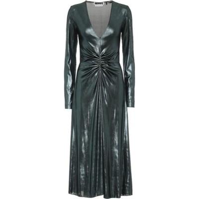 ローテート ROTATE BIRGER CHRISTENSEN レディース ワンピース ミドル丈 ワンピース・ドレス metallic stretch midi dress Metallic Emerald Green