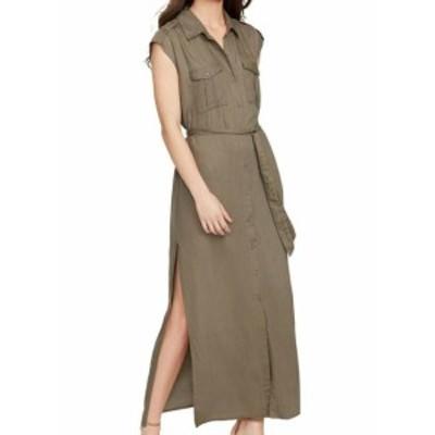 William Rast ウィリアムラスト ファッション ドレス William Rast NEW Green Womens Size Large L Button Down Maxi Dress