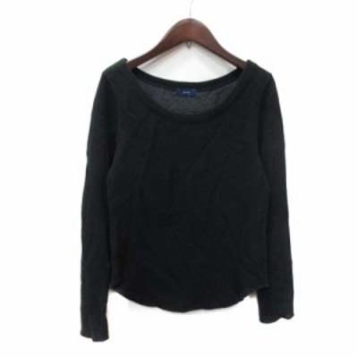 【中古】シップス SHIPS ニット セーター 長袖 黒 ブラック /YI レディース