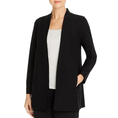 エイリーンフィッシャー ジャケット&ブルゾン アウター レディース Long Shawl Collar Jacket, Regular & Petite Sizes Black