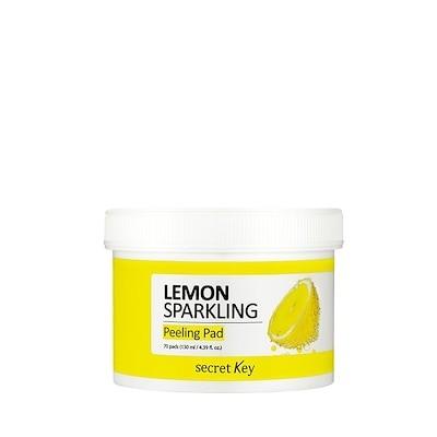 シークレットキー(SecretKey) レモンスパークリングピーリングパッド 1EA(70pads) : 角質および老廃物除去 : でこぼこエンボスパッドでお肌の角質と老廃物を簡単に除去してすっきりと
