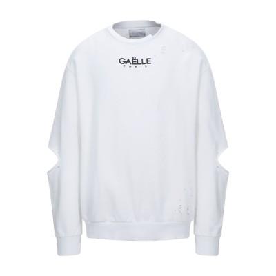 GAëLLE Paris スウェットシャツ ホワイト S コットン 100% スウェットシャツ