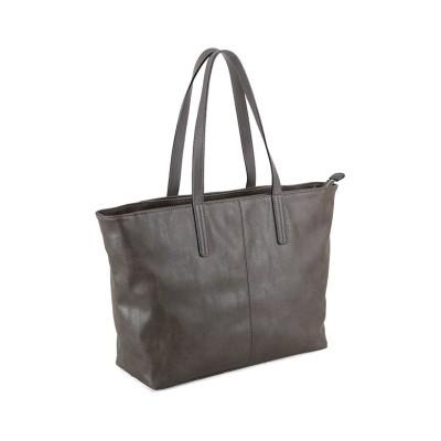 【カバンのセレクション】 アンクール トートバッグ un coeur メンズ レディース  311285 COLORS シンプル フェイク レザー 合皮 大容量 大きめ ユニセックス グレー フリー Bag&Luggage SELECTION