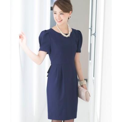 ドレス 結婚式ワンピースドレスVラインミニ丈&袖あり大きいサイズフォーマル