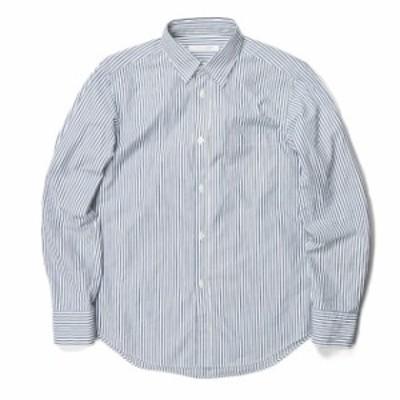 JOURNAL STANDARD ジャーナルスタンダード 18AW 日本製 パターンレギュラーカラーシャツ 18050600211030 S ホワイト/ネイビー 長袖 スト