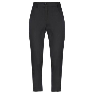CRISTINAEFFE パンツ ブラック 40 麻 52% / レーヨン 45% / ポリウレタン 3% パンツ