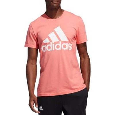 アディダス メンズ シャツ トップス adidas Men's Badge Of Sport Graphic T-Shirt (Regular and Big & Tall) Semi Flash Red