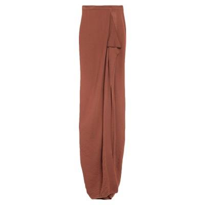 リック オウエンス RICK OWENS ロングスカート ブラウン XS カシミヤ 100% ロングスカート