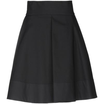ブルマリン BLUMARINE ひざ丈スカート ブラック 38 コットン 67% / ナイロン 30% / ポリウレタン 3% ひざ丈スカート