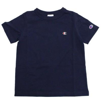 """半袖Tシャツ """"チャンピオン"""" 子供服 ワンポイントTシャツ ネイビー(370)"""