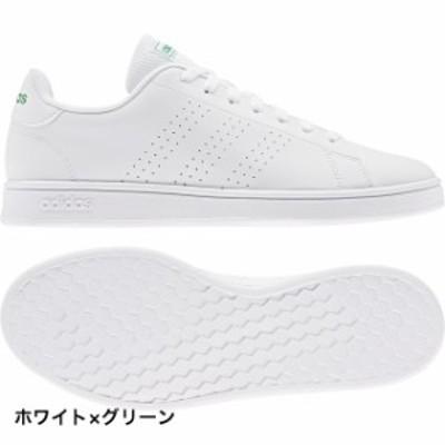 アディダス アドバンコート ベース ADVANCOURT BASE (EE7690) スニーカー : ホワイト×グリーン adidas
